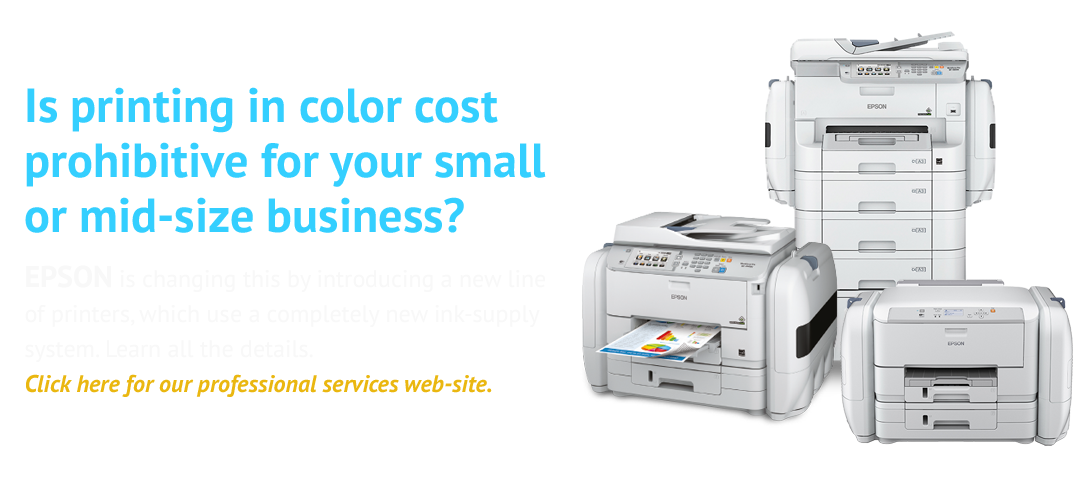 Is printing in color cost prohibitive for your small or mid-size business? EPSON is changing this by introducing a new line of printers, which use a completely new ink-supply system.