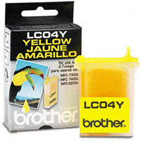 Brother LC-04Y Yellow Inkjet Cartridge