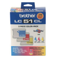 Brother LC513PKS InkJet Cartridges (3/Pack)