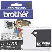 Brother LC51BK (Brother LC-51BK) InkJet Cartridge