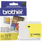 Brother LC51Y (Brother LC-51Y) InkJet Cartridge