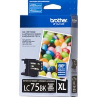 Brother LC75BK (Brother LC-75BK) InkJet Cartridge