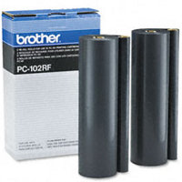 Brother PC-102RF (PC102RF) Black Thermal Transfer Ribbon Refills (2/pack)