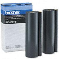 Brother PC-102RF (PC102RF) Black Thermal Transfer Ribbon Refills (2/pack)
