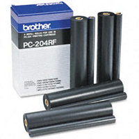Brother PC-204RF (PC204RF) Black Thermal Transfer Ribbon Refills (4/pack)