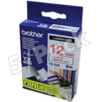 Brother TZ232 (Brother TZ-232) P-Touch Tapes (5/Pack)