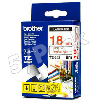 Brother TZ242 (Brother TZ-242) P-Touch Tapes (5/Pack)
