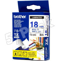 Brother TZ243 (Brother TZ-243) P-Touch Tapes (5/Pack)