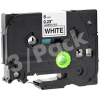 Brother TZe211 / TZe-211 Compatible P-Touch Label Tapes (3/Pack)