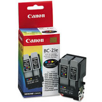 Canon BC-21e Color BubbleJet Dual Printhead Inkjet Cartridge