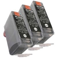 Canon BCI-3eBk Compatible Black InkJet Cartridges (3/Pack)