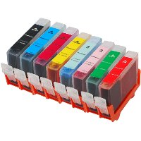 Set of 8 Canon Compatible InkJet Cartridges