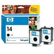 Hewlett Packard HP C9330FN (HP 14d Twinpack) InkJet Cartridge Twin Pack