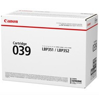 OEM Canon Canon 039 (0287C001) Black Laser Toner Cartridge