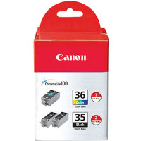 Canon 1509B007 (Canon PGI-35 / CLI-36) InkJet Cartridge Value Pack