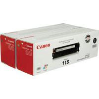 Canon 2662B004AA (Canon 118 Black) Laser Toner Cartridge Twin Pack