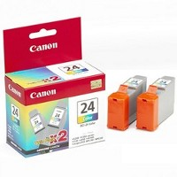 Canon 6882A010 (Canon BCI-24C) InkJet Cartridges (2/Pack)