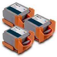 Canon BCI-11 Compatible Tri-Color Inkjet Cartridges (3/Pack)