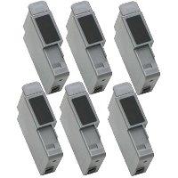 A pack of 6 Canon BCI-21 Compatible Black Inkjet Cartridges