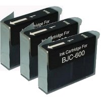 Canon BJI-201BK (Canon BJI201BK) Compatible Black InkJet Cartridges (3/Pack)