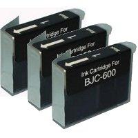 Canon BJI-201BK (Canon BJI201BK) Compatible Black InkJet Cartridges (3/Pack)
