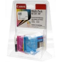 Canon BJI-201MP (Canon BJI201MP) Multi-Pack Color 4 Inkjet Cartridges