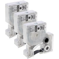 Dymo 45013 (Dymo S0720530) Compatible Standard D1 Label Tapes (3/Pack)