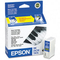 Epson S187093 Black InkJet Cartridge (Replaces S020093 & S020187)