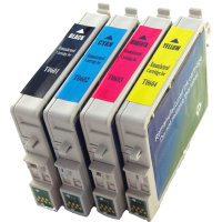 Epson T060120 / T060220 / T060320 / T060420 Remanufactured InkJet Cartridge MultiPack