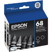 Epson T068120-D2 InkJet Cartridges (2/Pack)