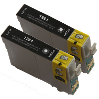 Epson T126120-D2 Remanufactured InkJet Cartridge Dual Pack