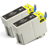 Epson T127120-D2 Remanufactured InkJet Cartridge Twin Pack