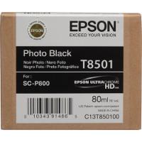 OEM Epson T8501 (T850100) Photo Black Inkjet Cartridge
