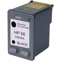 Hewlett Packard HP C6656AN / HP C6656A (HP 56) Professionally Remanufactured Black Inkjet Cartridge