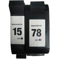 Hewlett Packard HP C8789FN (HP 15/78) Remanufactured InkJet Cartridge Combo Pack