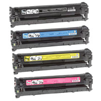 Compatible HP CB540A / CB541A / CB542A / CB543A Laser Toner Cartridge MultiPack