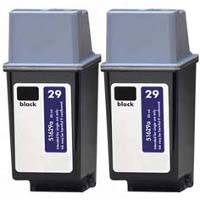 Hewlett Packard HP 51629A (HP 29) Remanufactured Inkjet Cartridges (2/Pack)