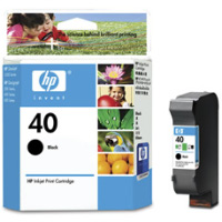 Hewlett Packard HP 51640A (HP 40) Black Inkjet Cartridge