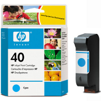 Hewlett Packard No.40 (HP 51640C) Cyan Inkjet Cartridge