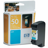 Hewlett Packard HP 51650C Cyan Inkjet Cartridge