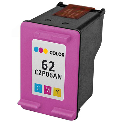 Remanufactured HP HP 62 Color (C2P06AN) Multicolor Inkjet Cartridge (Made in North America; TAA Compliant)