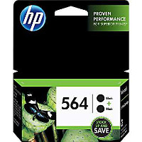 Hewlett Packard HP C2P51FN (HP 564 Black Twin Pack) InkJet Cartridges