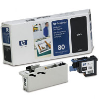 Hewlett Packard HP C4820A (HP 80) Printhead for Black Inkjet Cartridges and Printhead Cleaner
