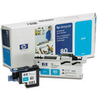 Hewlett Packard HP C4821A (HP 80) Printhead for Cyan Inkjet Cartridges and Printhead Cleaner