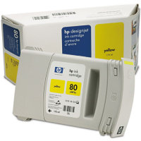 Hewlett Packard HP C4873A (HP 80) Yellow Inkjet Cartridge