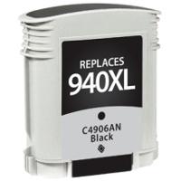 Hewlett Packard HP C4906AN / HP 940XL Black Replacement InkJet Cartridge