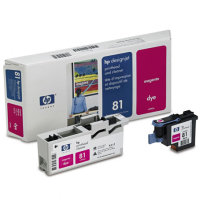 Hewlett Packard HP C4952A (HP 81) Magenta Printhead InkJet Cartridge with Printhead cleaner