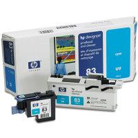 Hewlett Packard HP C4961A (HP 83) Cyan Printhead InkJet Cartridge with Printhead cleaner