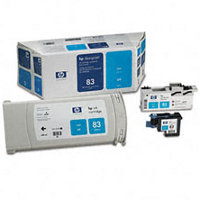 Hewlett Packard HP C5001A (HP 83) Cyan UV Value Pack (InkJet Cartridge / Printhead / Cleaner)