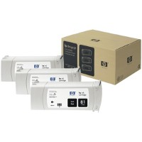 Hewlett Packard HP C5066A (HP 81) Black InkJet Cartridges (3/Pack)